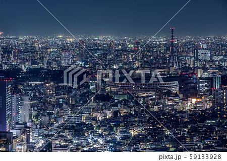 渋谷から眺める新国立競技場 59133928