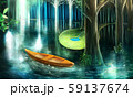 森の中の透き通る湖 59137674