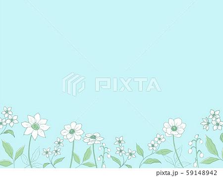 ペン画の植物の背景 59148942