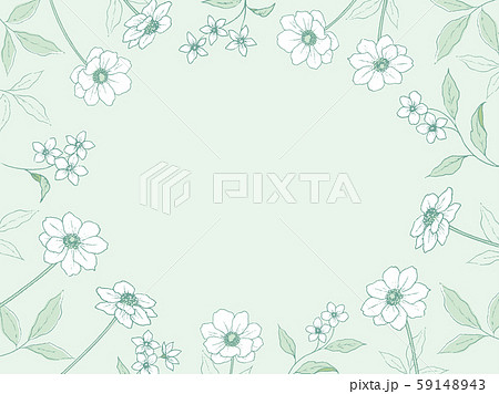 ペン画の植物のフレーム 59148943
