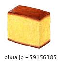 和菓子 カステラ 手描き 水彩 59156385