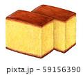 和菓子 カステラ 手描き 水彩 59156390