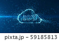 Cloud computing and Big data concept. Technology connectivity of digital data and futuristic information. Abstract hi speed internet of internet of things IOT  big data cloud computing . 59185813