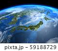 日本 JAPAN 地球 日本地図 宇宙 CG 59188729