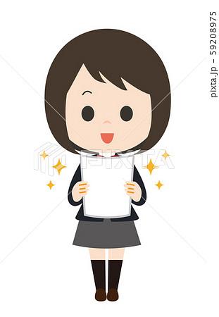 女子 学生 テスト 喜ぶ 59208975