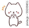 白ネコびっくり 59209851