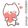 白ネコ幸せ 59209864