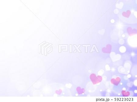 キラキラシャボン玉紫色ベースとハート 59223023