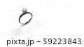 ダイヤモンド リング バックグランド白系 テキストスペース CG 59223843