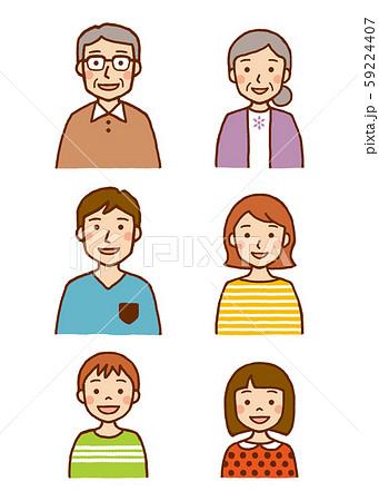 三世代家族 上半身 笑顔 59224407