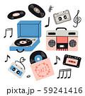Music items doodle set 59241416