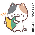 初心者マーク三毛ネコ 59245984