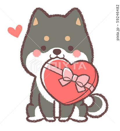 黒柴犬バレンタイン 59246482