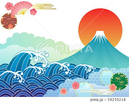 富士山と海 59250218