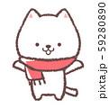 白ネコマフラー 59280890