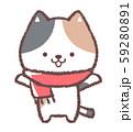三毛ネコマフラー 59280891