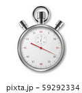 Vector Realistic Metal Steel Silver Gray Classic Stopwatch Icon Closeup Isolated on White Background 59292334