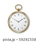 3d Realistic Metal Golden Old Vintage Pocket Watch with Roman Numerals Icon Closeup Isolated on 59292338