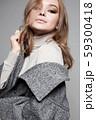 Winter style Beautiful woman. beautiful girl 59300418