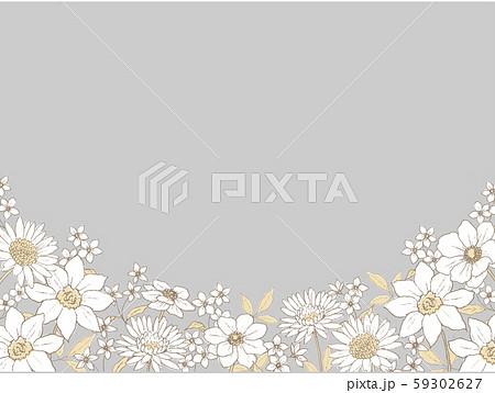 ペン画の植物の背景 ラインアート 59302627