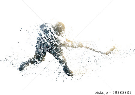 ice hockey abstract silhouette 1 bitmap ver. 59338335