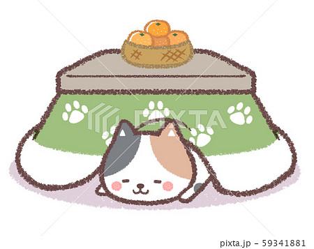 コタツ三毛ネコ 59341881