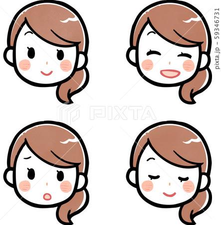 女性表情セット 59346731