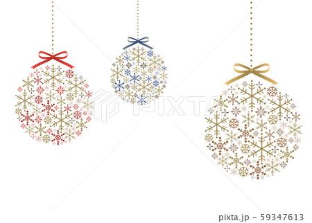 雪の結晶とリボンのオーナメント 59347613
