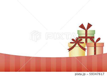 プレゼントボックスのクリスマスフレーム 59347617