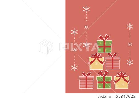 プレゼントボックスのクリスマスカード 59347625
