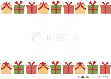 プレゼントボックスのクリスマスフレーム 59347629