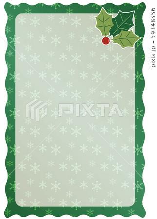 緑色のクリスマスフレーム 59348556