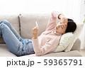 体調不良の女性 インフルエンザ 風邪 59365791
