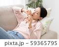 体調不良の女性 インフルエンザ 風邪 59365795