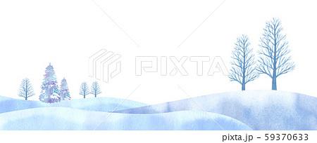 幻想的な冬の平原イメージ 水彩のトレースベークター 59370633