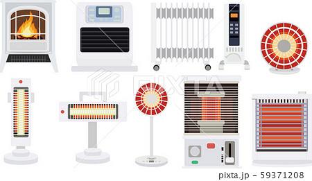 家電 暖房 アイコン セット 冬素材 ベクター 59371208