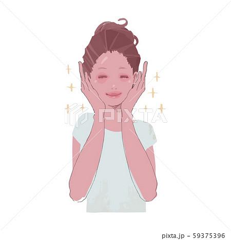 美肌を喜ぶ女性のイラスト2 59375396