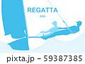 Poster with regatta theme 59387385