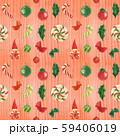 Christmas red pattern with gnome and candy canes 59406019