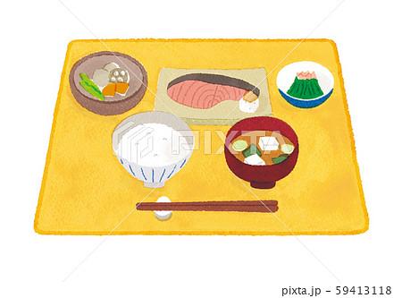 ご飯 味噌汁 おかず イラスト 59413118