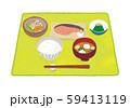 ご飯 味噌汁 おかず イラスト 59413119