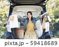 若い女性 買い物 バーゲン 59418689