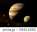 Jupiter with moons - High resolution 3D Rendering images presents planets of the solar system. 59421092