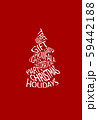 Abstract creative Christmas tree collected from words. 59442188