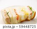 ミニミックスサンドイッチ。(白皿・白バック) 59448725