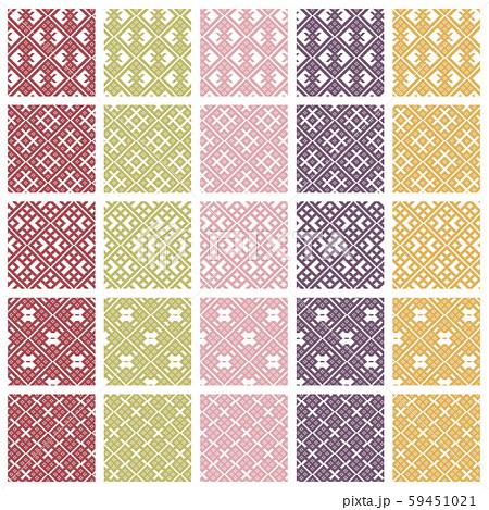 津軽こぎん刺しタイルパターン 59451021