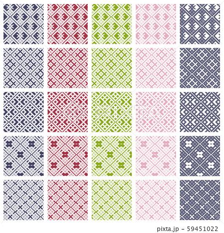 津軽こぎん刺しタイルパターン 59451022
