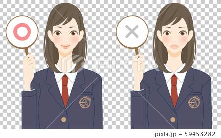 一名顯示初中生高低分數的女學生 59453282