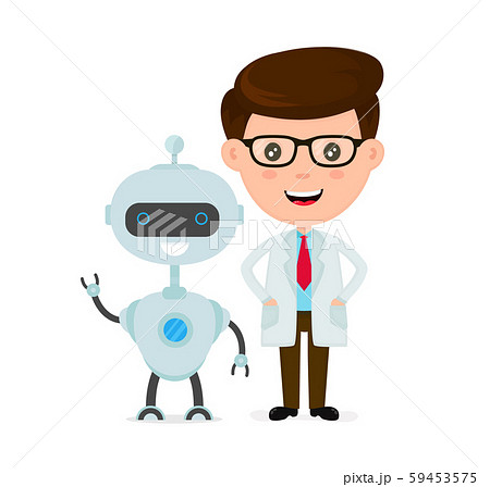 Happy smiling young Engineer vector 59453575