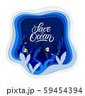 Ocean plastic pollution problem creative concept. 59454394